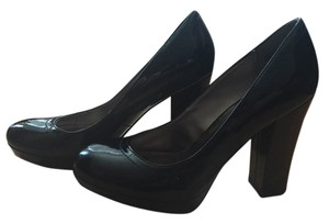Kenneth Cole Reaction Patent Leather Chunky New Black Pumps