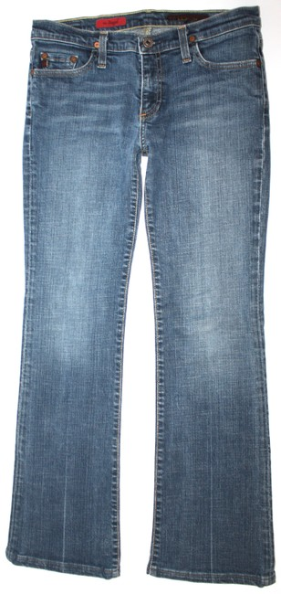 AG Adriano Goldschmied Blue The Angel Straight Leg Jeans Size 27 (4, S) AG Adriano Goldschmied Blue The Angel Straight Leg Jeans Size 27 (4, S) Image 1