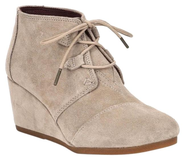 Item - Beige Kala Suede Wedge Boots/Booties Size US 9.5 Regular (M, B)