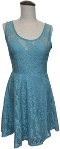 Material Girl short dress Mint green/blue Lace Lined on Tradesy