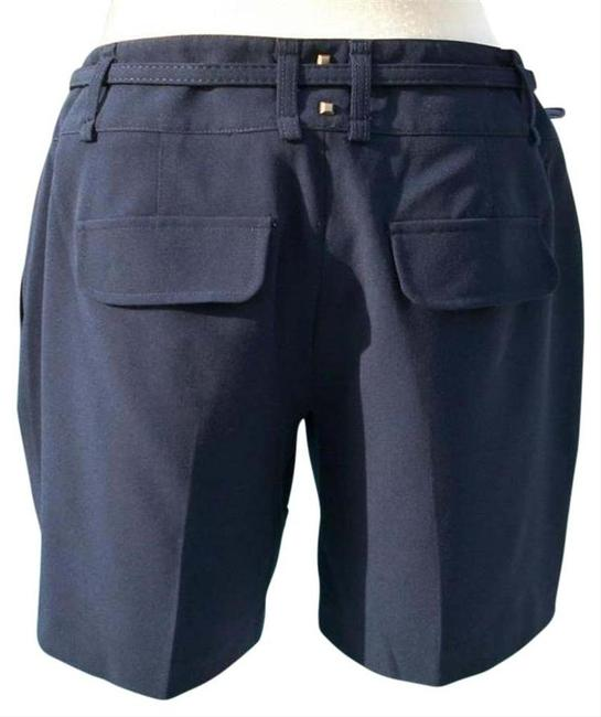 Cache Navy Blue XS Trouser Removable Belt Pant New Lined Metal Stud 0/2/4 Xs/S Shorts Size 2 (XS, 26) Cache Navy Blue XS Trouser Removable Belt Pant New Lined Metal Stud 0/2/4 Xs/S Shorts Size 2 (XS, 26) Image 3