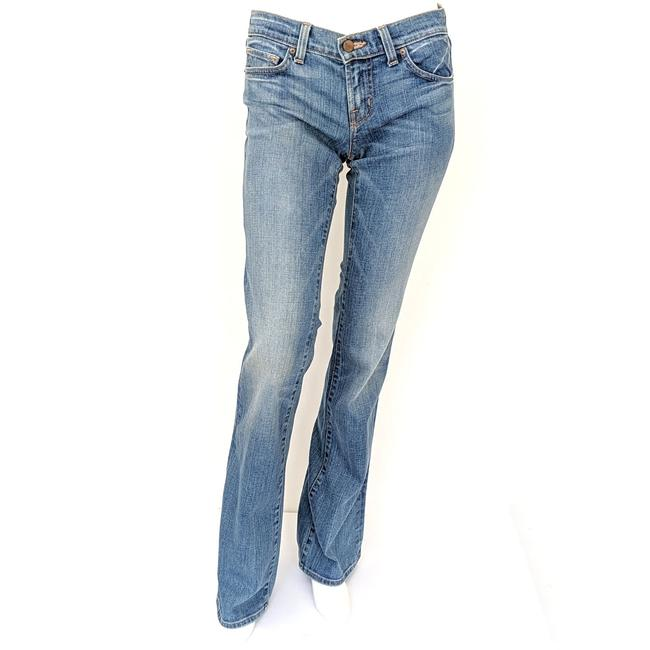 Item - Blue Light Wash Low Rise Style 918 Boot Cut Jeans Size 27 (4, S)