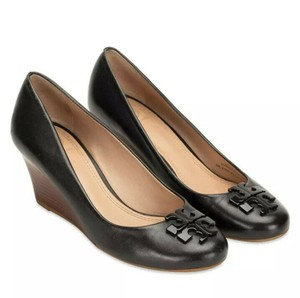 Tory Burch Heel Leather Brown Leather black Wedges