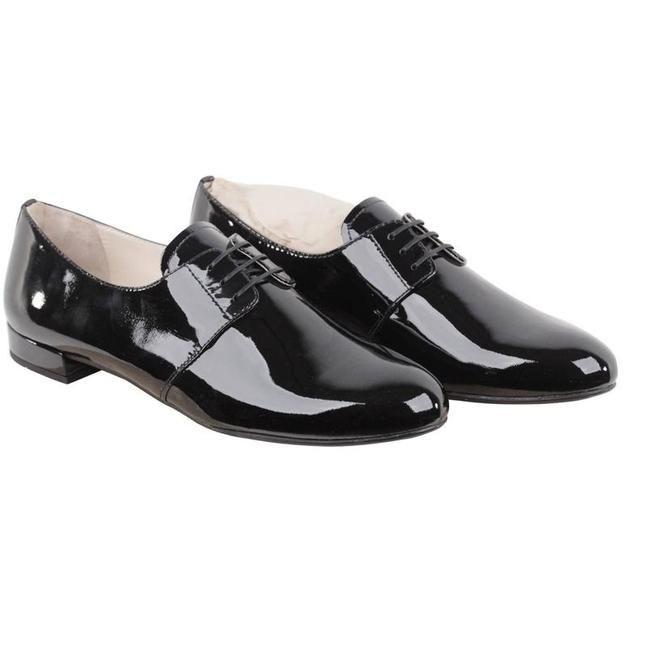 Item - Black Women's Patent Leather Oxfords Lace Up New Flats Size EU 39 (Approx. US 9) Regular (M, B)