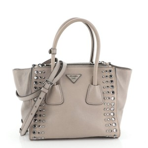 Prada Leather Tote in Neutral