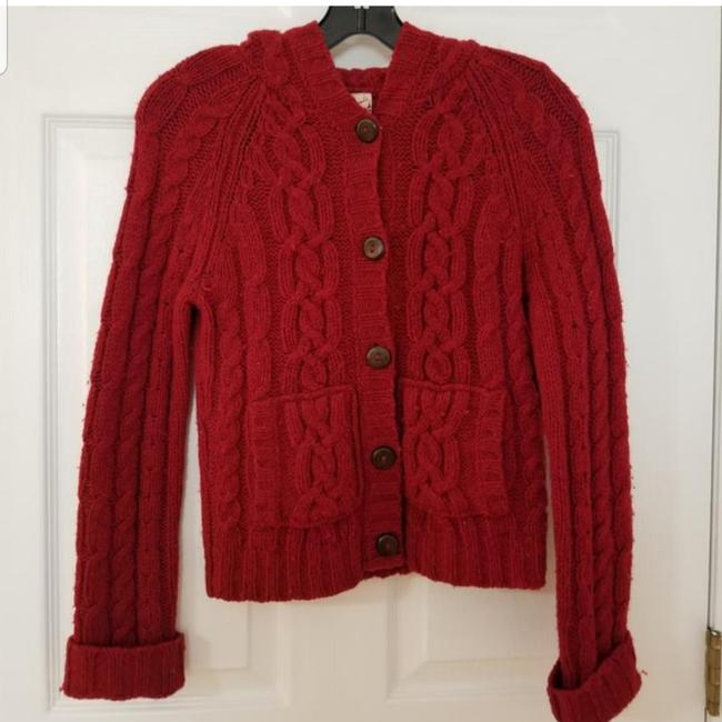 Item - Red Cardigan Sweater Jacket Size 4 (S)