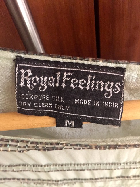 Royal Feelings Sequin Vintage Couture Gucci Halston Ysl Top mint / silver
