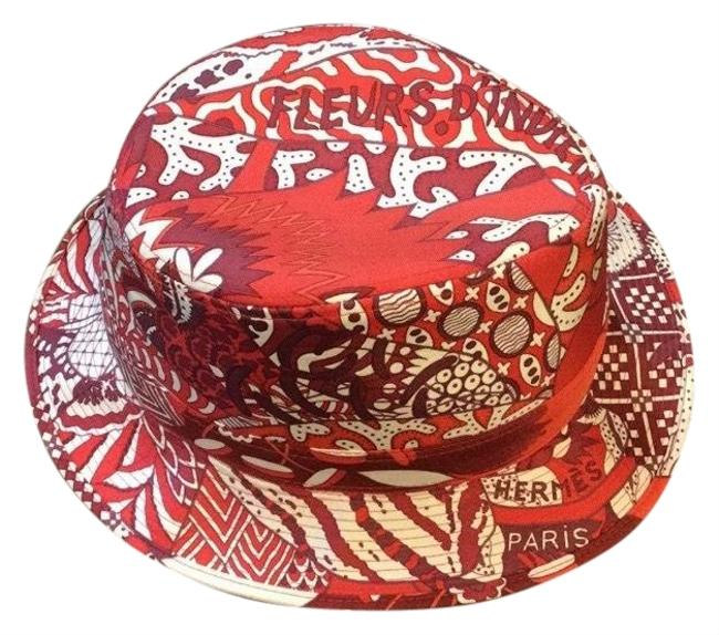 Item - Red & Ivory Silk Hat