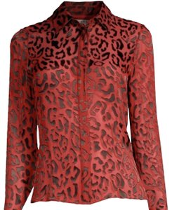 Alice + Olivia Button Down Shirt red/Black