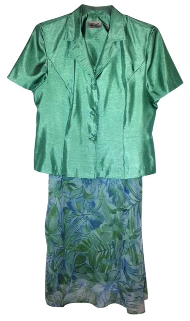 Item - Teal Green Spring Summer Skirt Suit Size 16 (XL, Plus 0x)