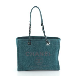 Chanel Textile Tote in Green