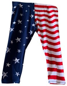 Mixit Capris Red White Blue
