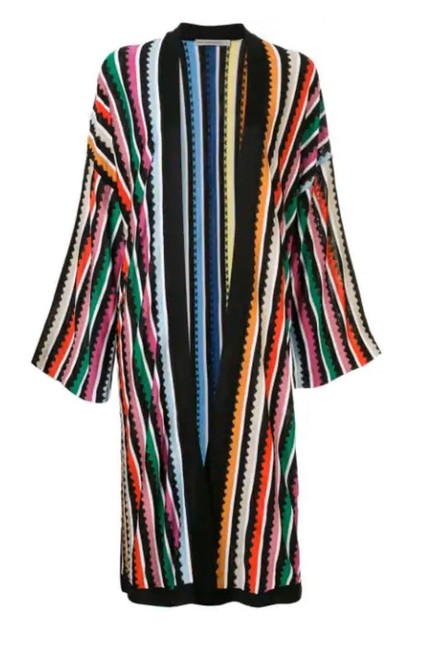 Item - Multicolor Sola Striped Metallic Knitted Cardigan Size 8 (M)