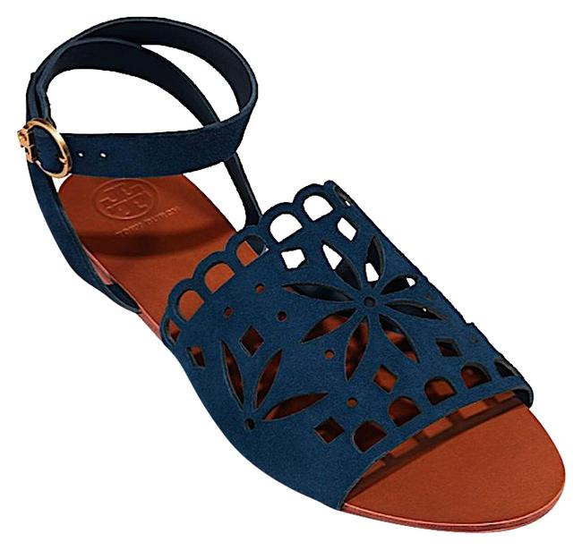 Item - Blue New May Flat Sandals Size US 7.5 Regular (M, B)