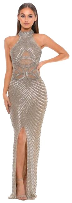 Item - Silver Ps3002 Couture Long Formal Dress Size 2 (XS)