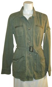 Orvis Belted Casual Olive Shirt Onm001 Military Jacket