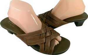 Dr. Scholl's Leather Woman's RUST COFFEE BROWN Sandals