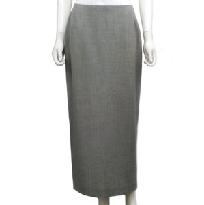 Genny Long Melange Made In Italy Maxi Skirt grey