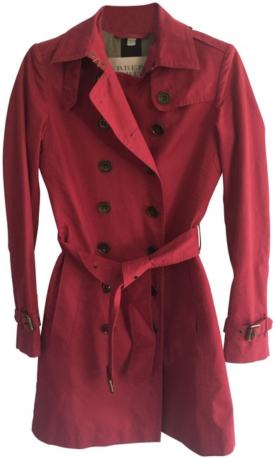 Burberry Berry Double Breast Coat Size 2 (XS) Burberry Berry Double Breast Coat Size 2 (XS) Image 1