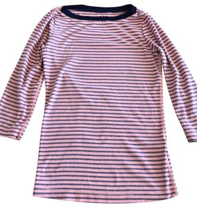 Three Dots T Shirt peach and navy