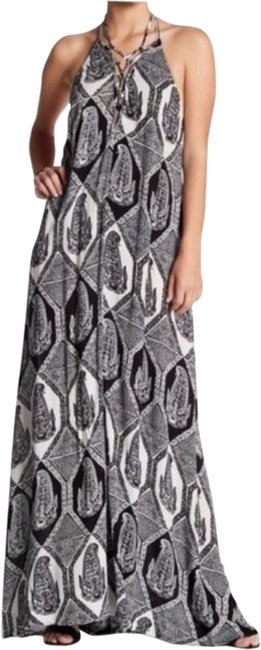 Item - Black and Cream Logan Lace Up Long Casual Maxi Dress Size 6 (S)
