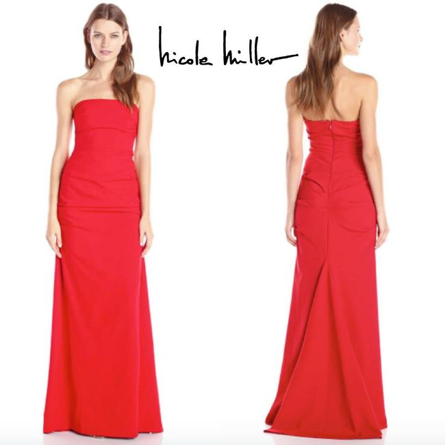 Item - Red Mermaid Strapless Party Party Gown Modern Bridesmaid/Mob Dress Size 4 (S)