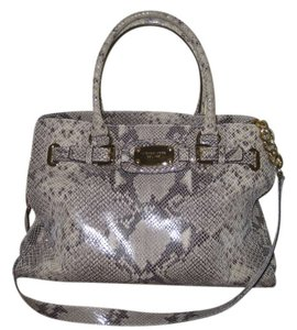 Michael Kors Hamilton West Tote in Sand/Python