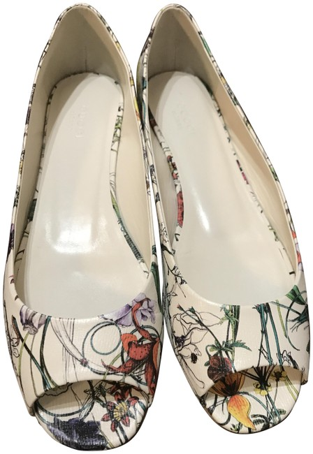Item - Mystic White Multic Salad Is Peep Toe Flats Size EU 39 (Approx. US 9) Regular (M, B)