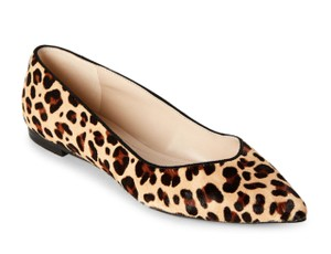 Marc Fisher Leather Leopard Flats