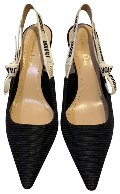 Item - Black J'adior Slingback In Technical Fabric Pumps Size EU 37.5 (Approx. US 7.5) Narrow (Aa, N)