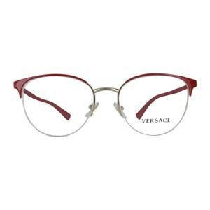 Versace New Authentic Versace 1247 1408 Red & Gold Eyeglasses 52-17-140