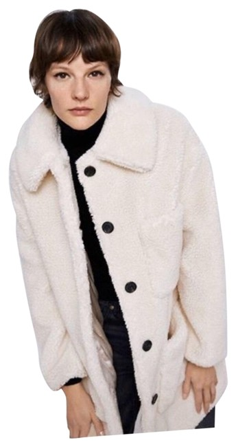 Item - White Sherpa Fleece Teddy Coat Size 4 (S)
