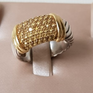 David Yurman David Yurman Metro Wide Yellow Sapphire Candy Cable Ring