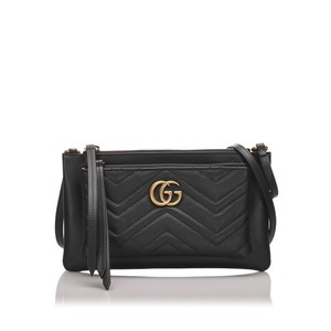 Gucci 0bgush002 Vintage Leather Cross Body Bag