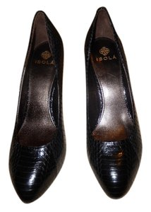 Isola by Softt 8m 8m 8m Snakeskin Black Pumps
