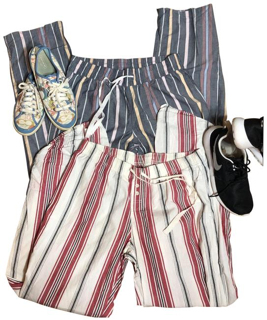 Item - Res/White/Black/Blue/Pink Small-gap Body Bundle Of 2 Cotton Striped Lounging Pants Size 6 (S, 28)