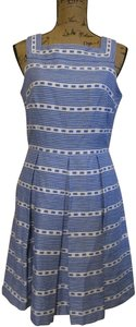 Just Taylor short dress Blue & White Striped on Tradesy