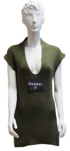 Chanel Cashmere Ribbed Cashmere Sleeveless Sweater 08 Size 34 Tunic