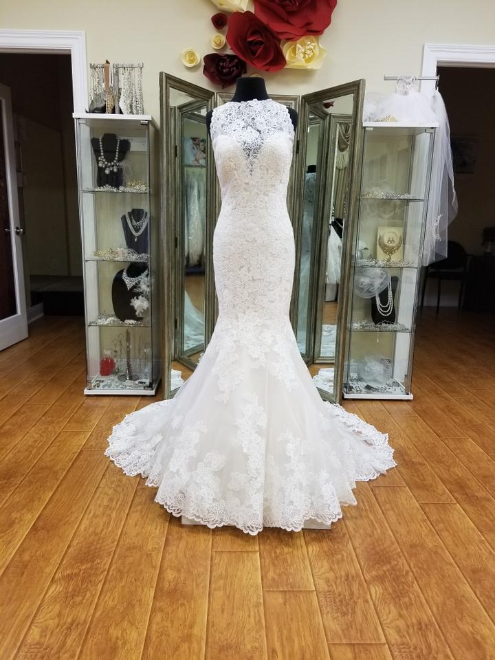 Allure Bridals Gold Ivory Lace Romance