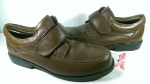 Dr. Scholl's Brown W/White Stitch Men Leather Comfort Dress Casual Walk Loafer 12eee Shoes