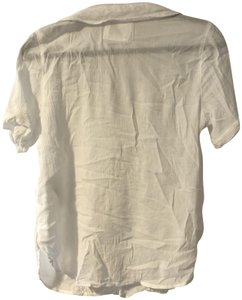 Abercrombie & Fitch Gauze Button Down Shirt White