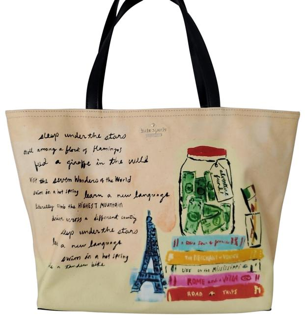 Item - Flights Of Fancy Multicolor Coated Canvas Tote
