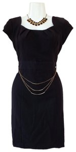 A Byer Chain Lbd Cappedsleeve Casual Dress