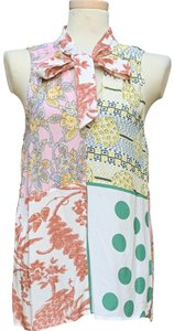"Moulinette Soeurs Viscose Armpit To Armpit 19"" Length @ Rear 28.5"" Top Multicolored"