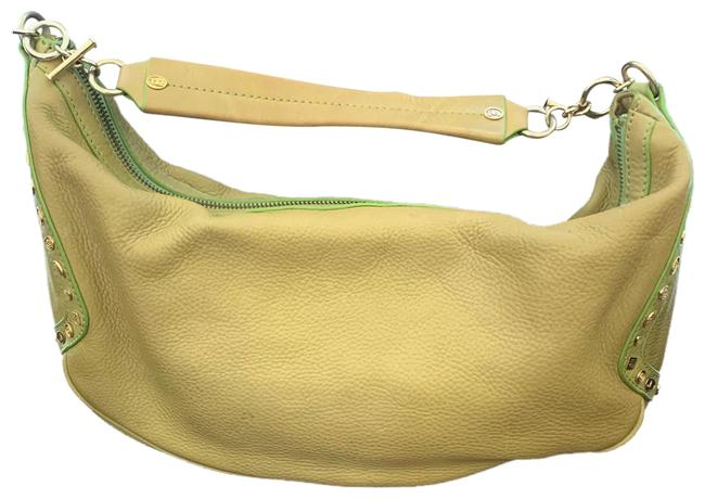 Item - With Gold Chain Handle Avocado Green Genuine Leather Shoulder Bag