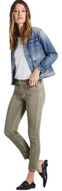 Item - Green Sage Silver Light Wash The Prima Crop Sea Capri/Cropped Jeans Size 6 (S, 28)