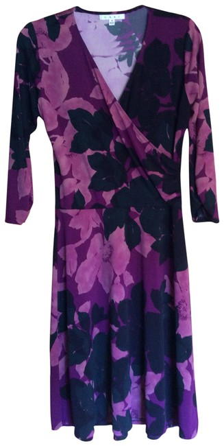 Item - Black Fuchsia and Pink Style# 837 Mid-length Work/Office Dress Size 8 (M)