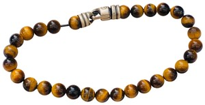 David Yurman men's Tiger Eye 6mm Bead Bracelet