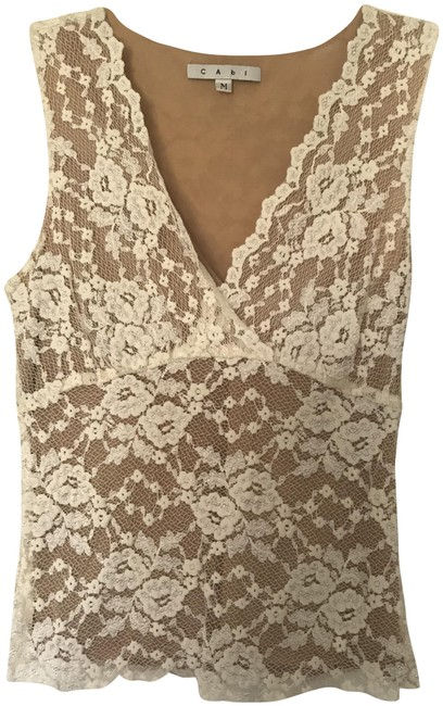 Item - Ivory Lace Tank Top/Cami Size 8 (M)