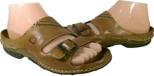 Earth Spirit Leather Women's BROWN W/CREME ACCENTS Sandals